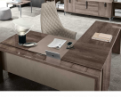 Matera L Shaped Office Desk - Top View