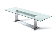 Monaco Dining Table - Clear Glass Top