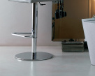 Nata Gas Lift Bar Stool - Footrest