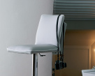 Nata Gas Lift Bar Stool - Leather Seating