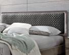 Nora Bed - Smoke Grey Headboard Close-Up