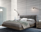 Nora Bed With Light Smoke Grey Headboard