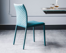 Norma Couture Blue Leather Dining Chair
