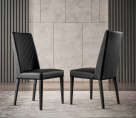 Nova Black Leather Dining Chair