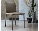 Bontempi Casa Low Back Nata Leather Dining Chair