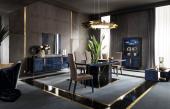 Ocean Cobalt-Blue Extending Dining Table