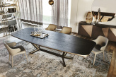 Planer Wood Dining Table - Top View