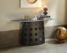 Pois Glass Console Table