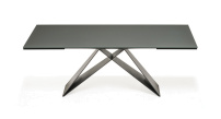 Premier Drive Glass Italian Extendible Dining Table