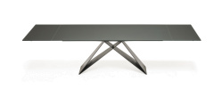 Premier Drive Glass Italian Extending Dining Table