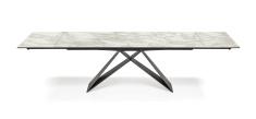 Premier Keramik Drive Table - Marmi Calacatta Top Extended