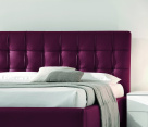 Prestige Italian Bed Red Leather - Headboard