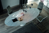 Reef Dining Table - White Carrara Marble