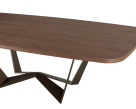 Reverse Wood Top Dining Table