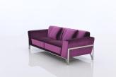 Rouche Designer Fabric Sofa - Angled View