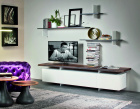 Seneca TV Unit - Matt White Base