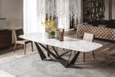 Skorpio Keramik Dining Table - Alabastro Side