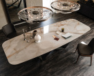 Skorpio Keramik Dining Table - Alabastro - Front