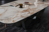 Skorpio Keramik Dining Table - Alabastro Top
