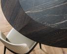 Skorpio Round Ker-Wood Dining Table - Wood top with ceramic- nsert