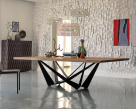 Skorpio Wood Dining Table - Heritage Oak Top
