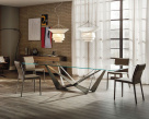 Skorpio Glass Dining Table - Lifestyle
