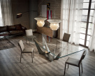Skorpio Glass Dining Table - Glass Top