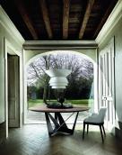 Skorpio Round Wood Dining Table - Oak Top