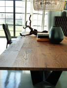 Skorpio Wood Dining Table - Front View