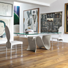 Snake Extending Dining Table - Glossy Mud Base