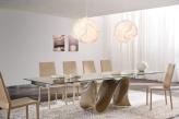 Snake Extending Dining Table - Gloss Base