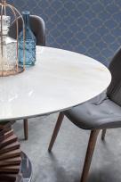 Spirio Large Dining Table - Grey Onyx Porcelain Top