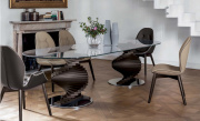 Spirio Large Dining Table - Dark Oak Base