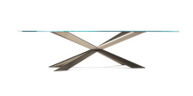 Spyder Satin Bronze Dining Table - Rectangle Top