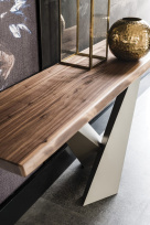 Stratos Wood Top Console Table