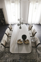 Stratos Keramik Premium Dining Table - Top View