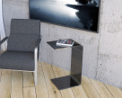 Tommy Side Table - Tinted Grey Glass