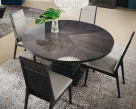Versilia Round Dining Table - High Gloss Finish