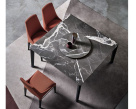 Versus Square Marble Dining Table - Birdseye View