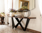 Westin Wood Console Table - Side View