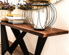 Westin Wood Console Table - Steel Base