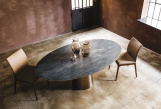 Yoda Keramik Oval Top Dining Table by Cattelan Italia