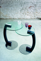Zen Side Table - Glass Top