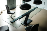 Zeus Drive Glass Top Dining Table