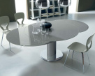 Giro Extending Glass Table - Glass Top