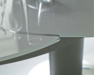 Giro Extending Glass Table - Close Up