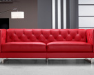 Capriotti Chesterfield Style Leather Sofa
