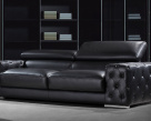 Chanel 3 Seater Sofa - Black Leather