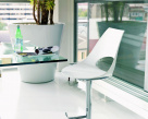 Shark Bar Stool - White Polypropylene