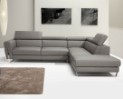 Michel Italian Corner Sofa - Front View